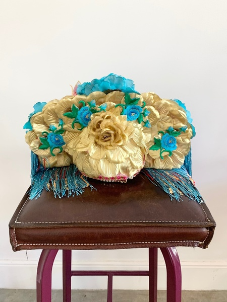 Kate McNee Headdress - Turquoise/Gold