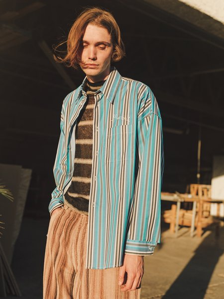 Marni Oversized Chainstitch Shirt - Stripe