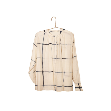 Injiri Window Pane Button Down - Cream