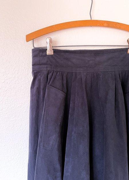 Vintage Suede skirt - Navy