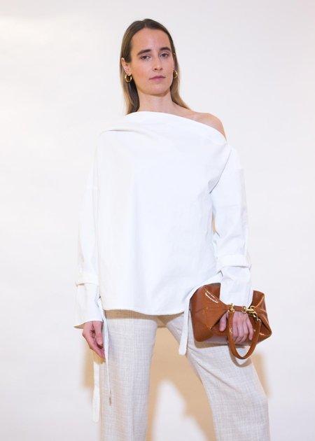 ÁERON Ariax Asymmetric Blouse - White