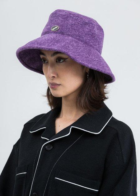we11done Big Brim Bucket Hat - Purple