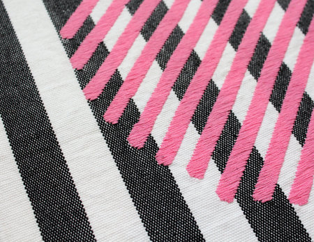 DittoHouse hand-woven Pink Ball Tapestry