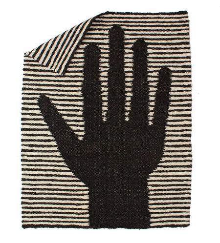 DITTOHOUSE Wool Hand Rug - Black/White