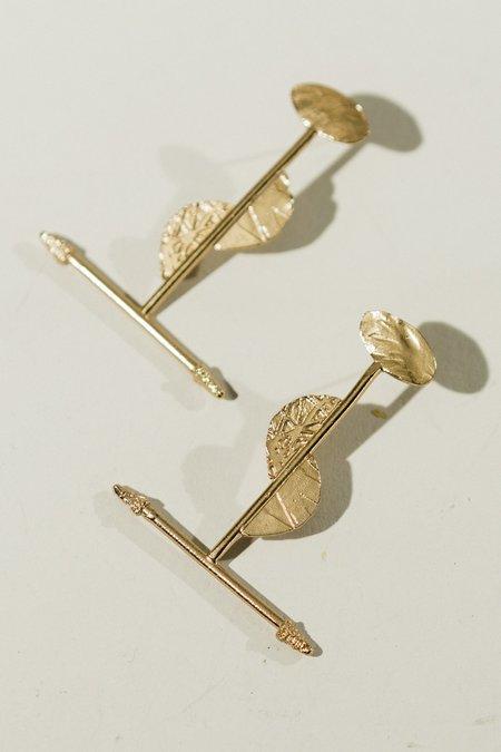 Lingua Nigra The Fire Untrue Stick Earrings - Gold