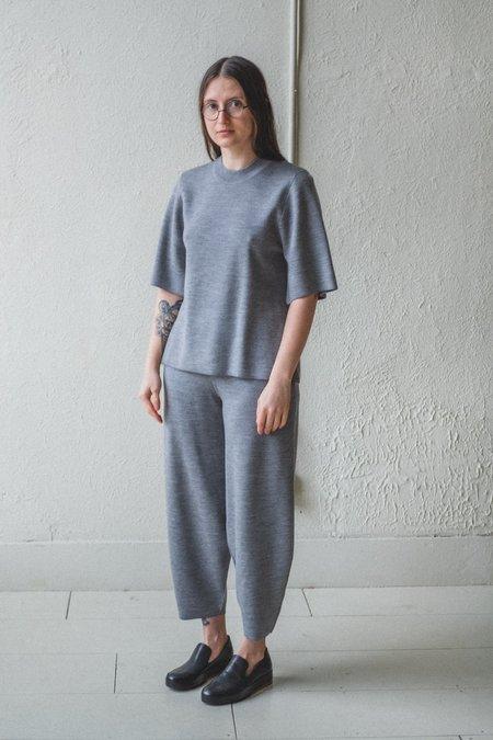 Studio Nicholson MOURA MERINO/CASHMERE KNIT PANTS - GREY