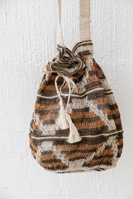 Pampa Litoral #0511 Woven Bag - Brown/Orange/Natural