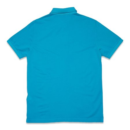 Stone Island Cotton Pique Garment+Pigment Dye Polo Shirt - Turquoise