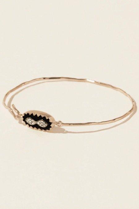 Pascale Monvoisin Bowie Bracelet - 9K PINK GOLD/Black/0.07ct