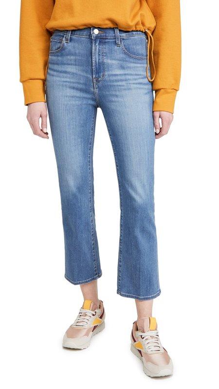 J Brand Franky High Rise Crop Bootcut Jeans - Earthen