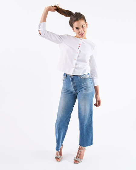 Rachel Antonoff Funfetti Clara Collarless Shirt
