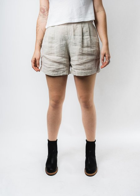 IT IS WELL EASY LINEN SHORTS - NATURAL