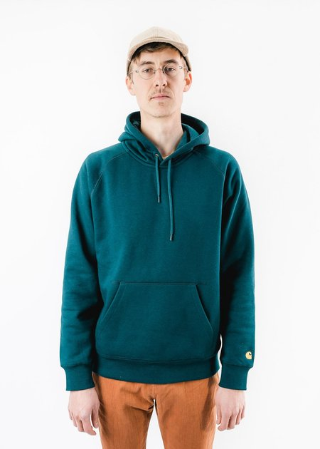 CARHARTT WIP DUCK BLUE HOODED CHASE SWEAT