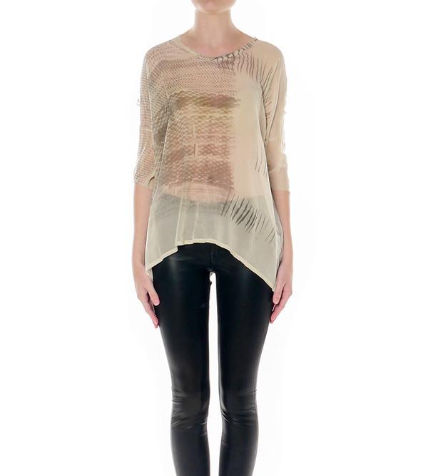 Raquel Allegra Silk Oversize Tie-Dye Tee