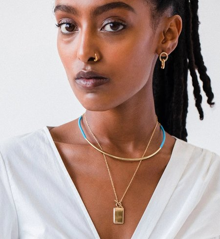 Soko Shanga Collar - Gold/Turquoise