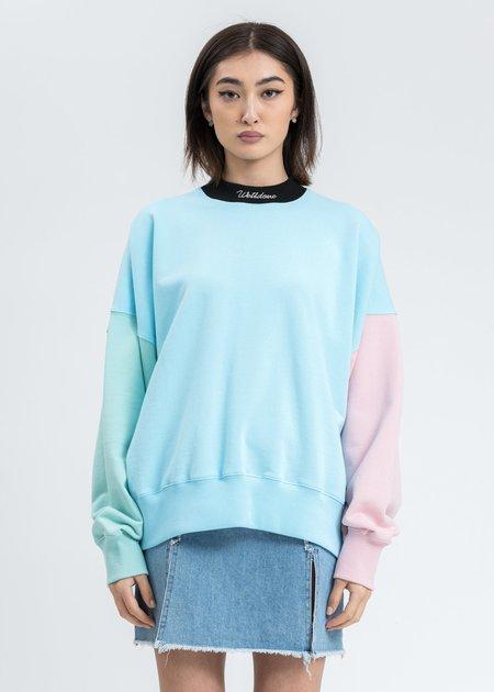 we11done Blocking Sweatshirt - Sky