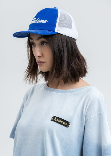we11done Big Logo Embroidered Cap - Blue