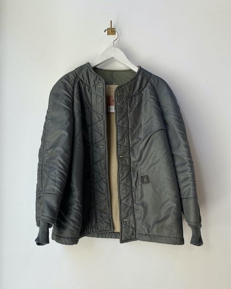 Vintage Flight Quilted Jacket - Army