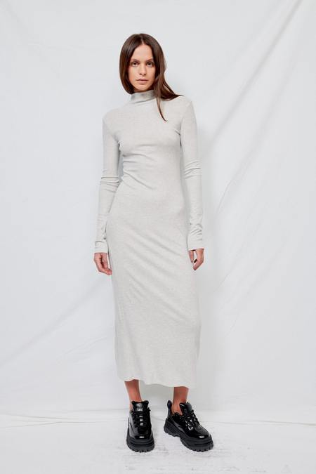 Assembly Ribbed Long Sleeve Maxi Dress