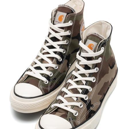 Converse x Carhartt WIP Chuck 70 Hi Shoes - Covert Green