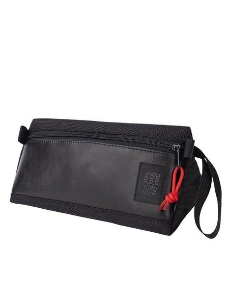 Topo Designs Leather  Dopp Kit - Ballistic Black/Black