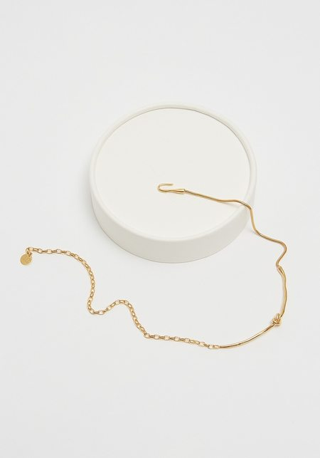 Cled Rope Hook Necklace - Gold
