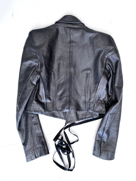 [Pre-loved] Ann Demeulemeester Cropped Leather Jacket