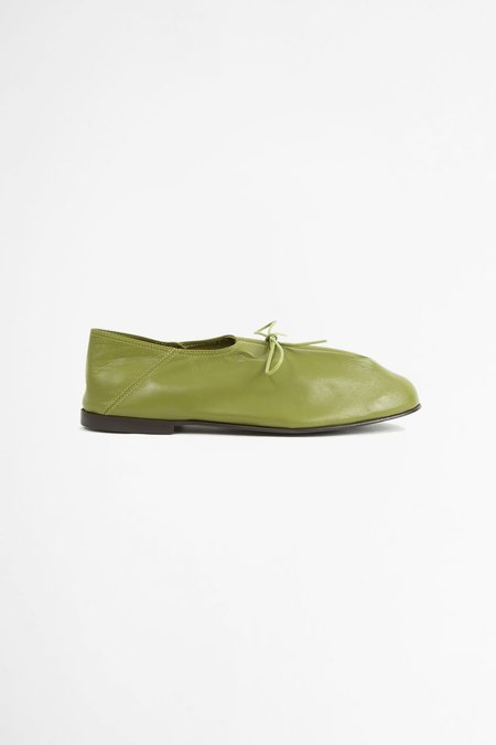 Jacques Soloviere Babouche Bed Shoe - matcha