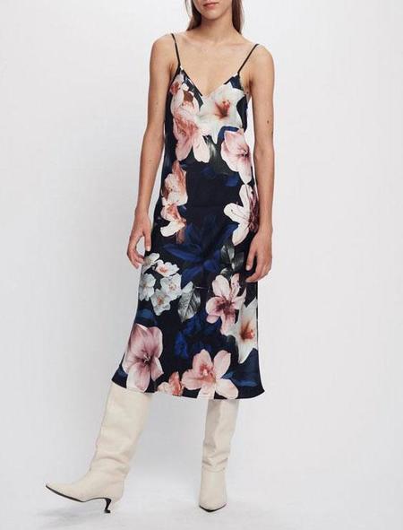 Silk Laundry 90s slip dress - lilies