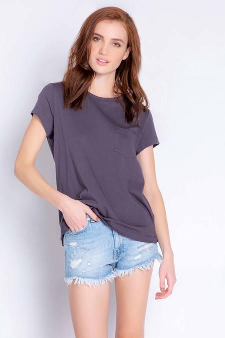 PJ Salvage Back To Basics Solid Short Sleeve Tee Shirt - Slate