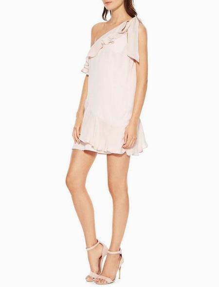 Parker NY Eden Combo Dress - Pearl Blush