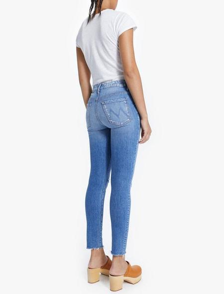Mother Denim High Waisted Looker Ankle Fray - Spice It Up