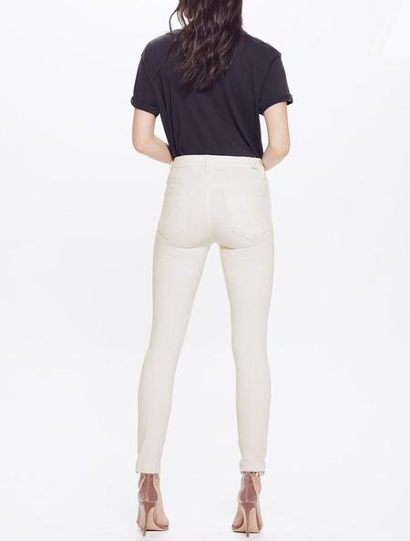 Mother Denim High Waisted Looker Ankle Fray - Whipping the Cream