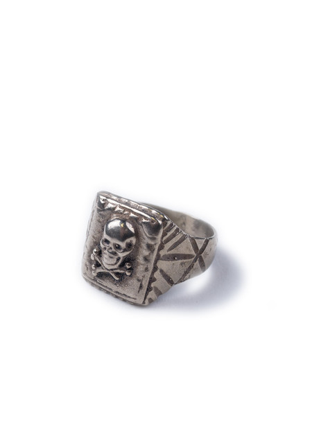 Men's Fortune Goods Skull Ring White Bronze