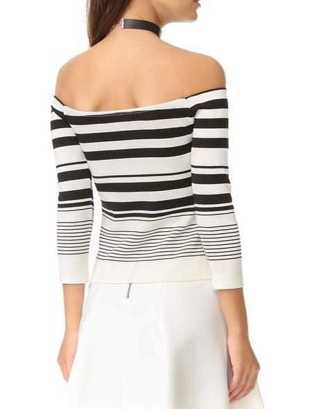 Cupcakes and Cashmere Leilani Off the shoulder Top - White