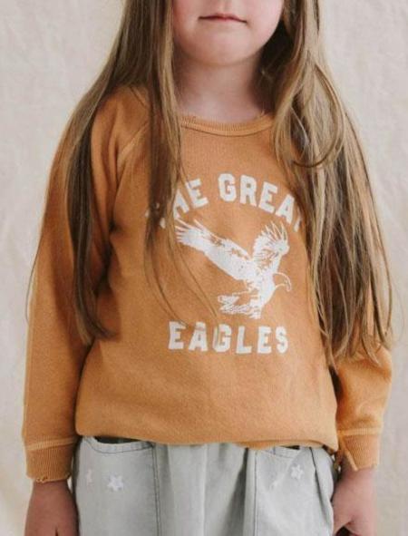 Kids The Great. Little College Sweatshirt - Marigold