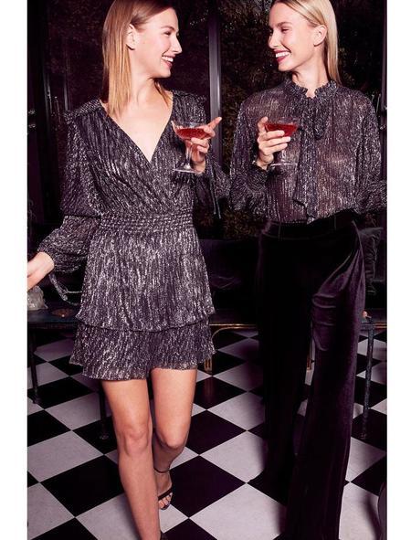 Misa Los Angeles Maeryn Dress - Metallic Black
