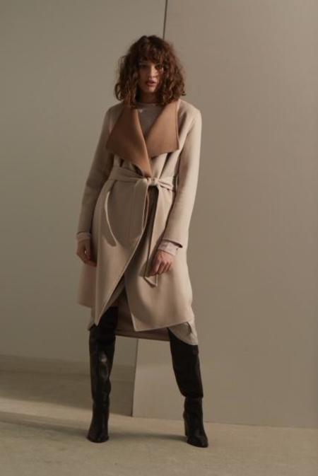 Line Knitwear Meghan Coat - Camel Rosebud