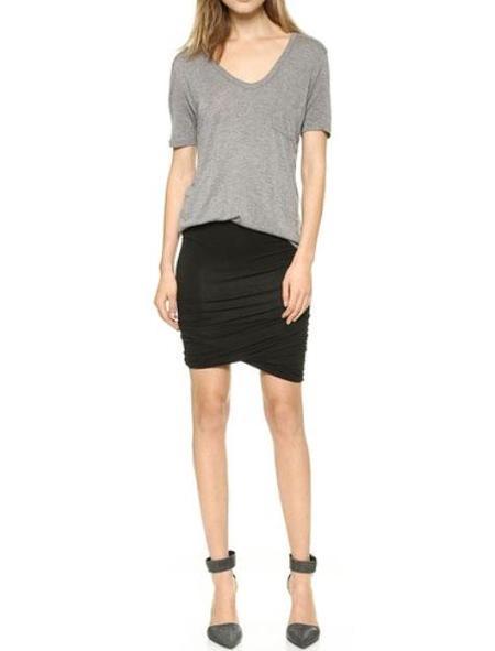 T By Alexander Wang Micromodal Twist Skirt - black