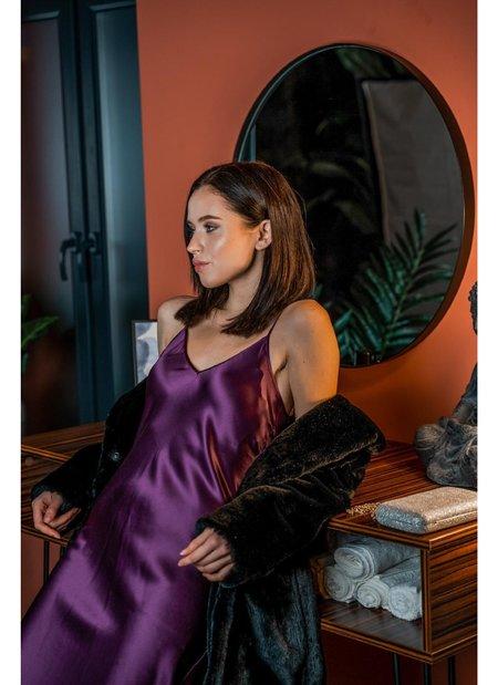 Dannijo Midi Slip Dress - Aubergine