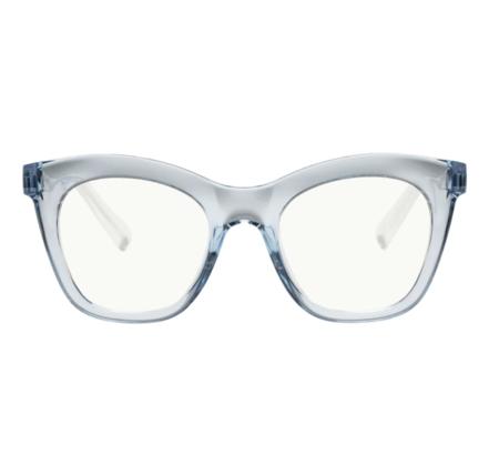 MERAKI BOUTIQUE The Book Club: HARLOTS BED eyewear - CLEAR BLUE
