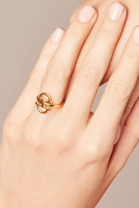LAUSANNE Lock Link Ring - 14k Gold