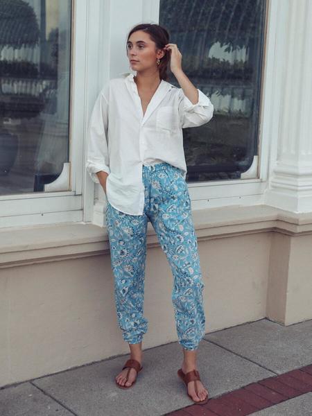 Mille Isla Pants - Blue Carnation