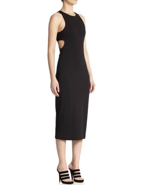 T By Alexander Wang Ponte Bandeau Sleeveless Dress - black
