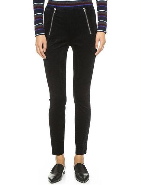 T By Alexander Wang Stretch velveteen leggings - Black