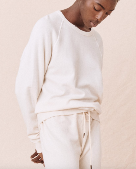 The Great. The College Sweatshirt - Washed White