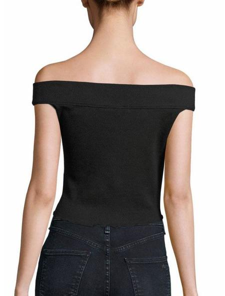 Rag & Bone Thermal off the shoulder top - black