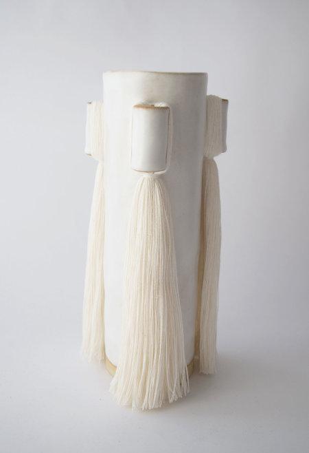 Karen Gayle Tinney Vase #607 - White