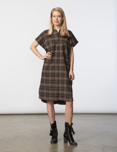 SBJ Austin R Dress - Brown/Black Plaid