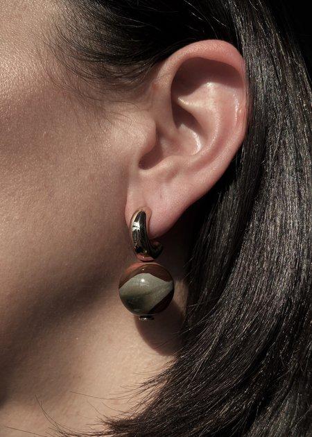 Modern Weaving Petite C-Curve Earrings - Bronze